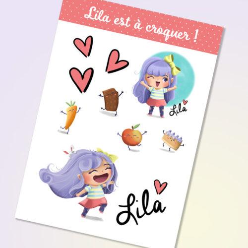 Planche de stickers Lila
